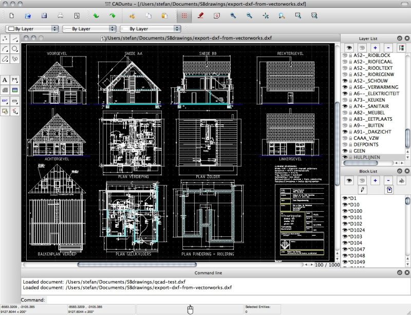 Librecad dwg for 2d plan drawing software