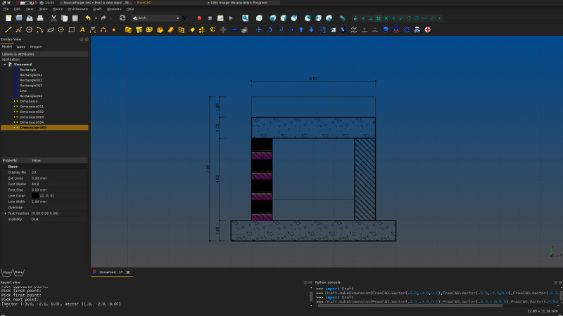 Hatch patterns on Draft objects - FreeCAD Forum