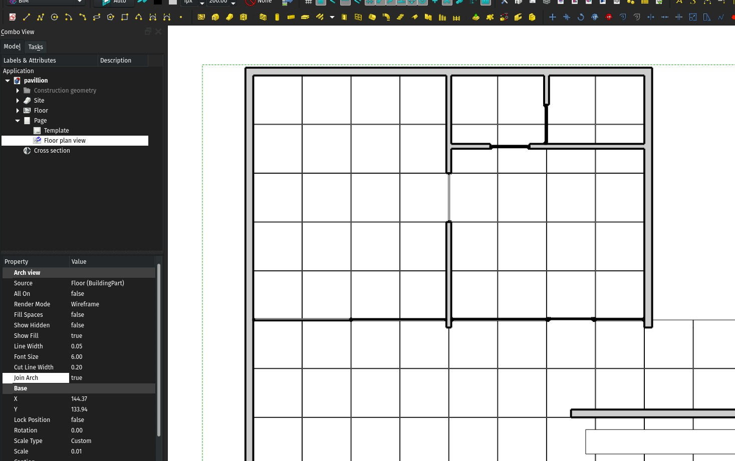 Properties of an ArchView in TechDraw