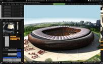 World cup stadiums in the blender game engine