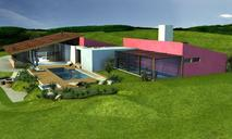 Renderings of a house in the nowhere. Project by Ferraz & Santa Cruz arquitetos