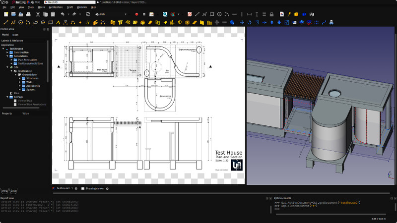 DXF export of FreeCAD Drawing pages - Yorik's Guestblog