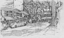 One more dose, first time withUrban Sketchers São Paulo, at rua Avanhandava