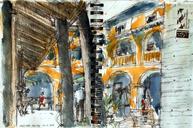 Today's sketches at Goethe Institut São Paulo with São Paulo Urban Sketchers