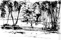 Today's drawings with Urban Sketchers São Paulo, at Horto Florestal park