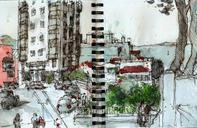 A couple of sketches a did in San Francisco. Didn't really choose much the views, unfortunately, I mostly sat and...