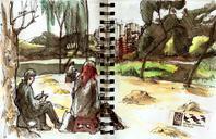 Todays sketches with USKSP at parque da Aclimação
