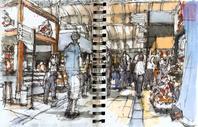 Todays sketches with Urban Sketchers São Paulo at the Mercado Municipal