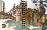Yesterdays sketches with Urban Sketchers São Paulo, at the Arquivo Histórico Municipal (next to metro Tiradentes), and one I did...