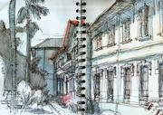 Latest sketches at museu Vicente de Azevedo, Praça Benedito Calixto and Rua 7 de Abril in São Paulo