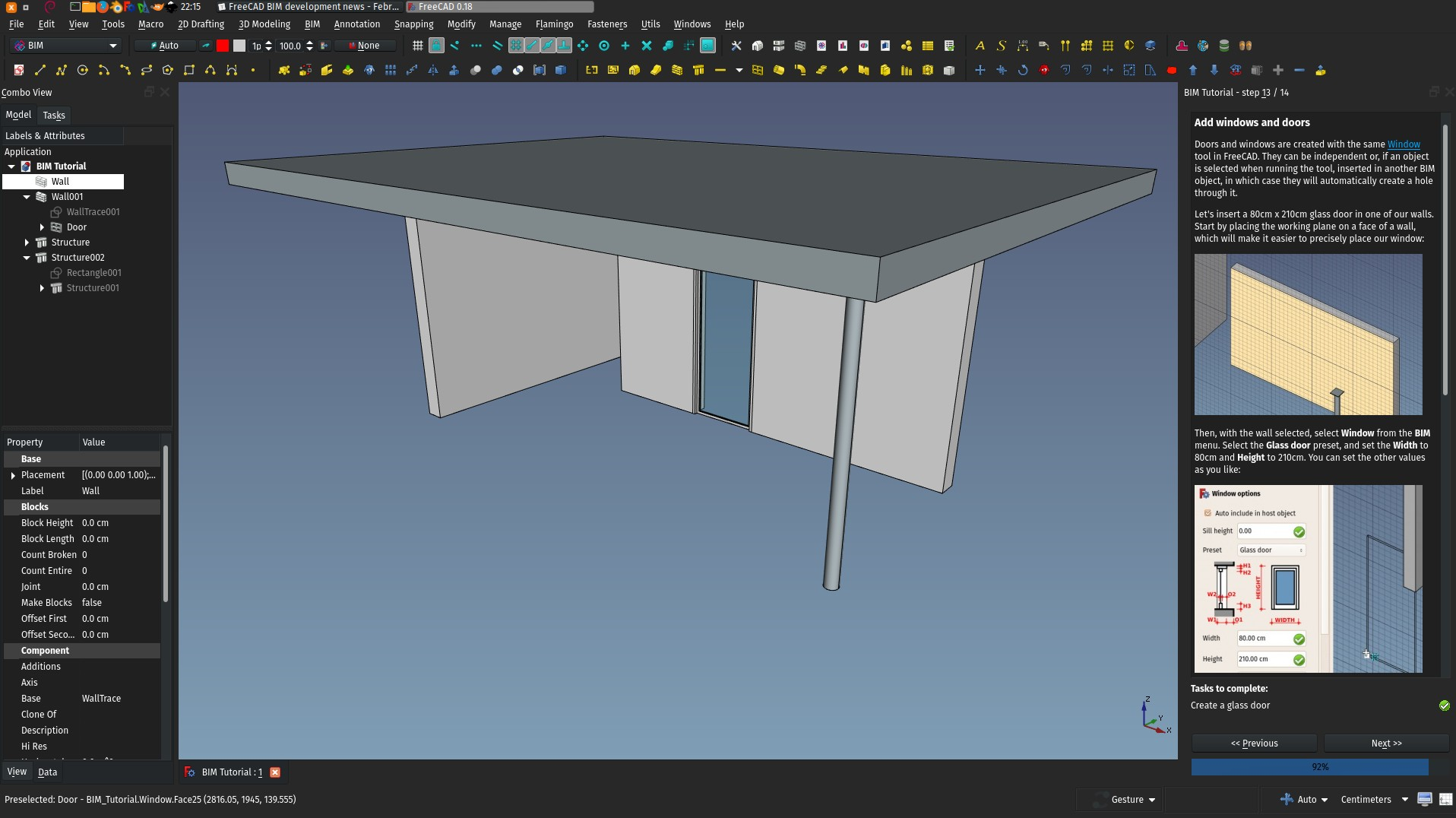 The almost finished BIM tutorial