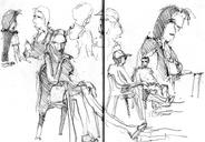 Latest sketches at Buenos Aires square, Bella Buarque bakery and Zoology museum