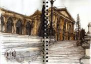 Sketches of the Ipiranga museum in São Paulo